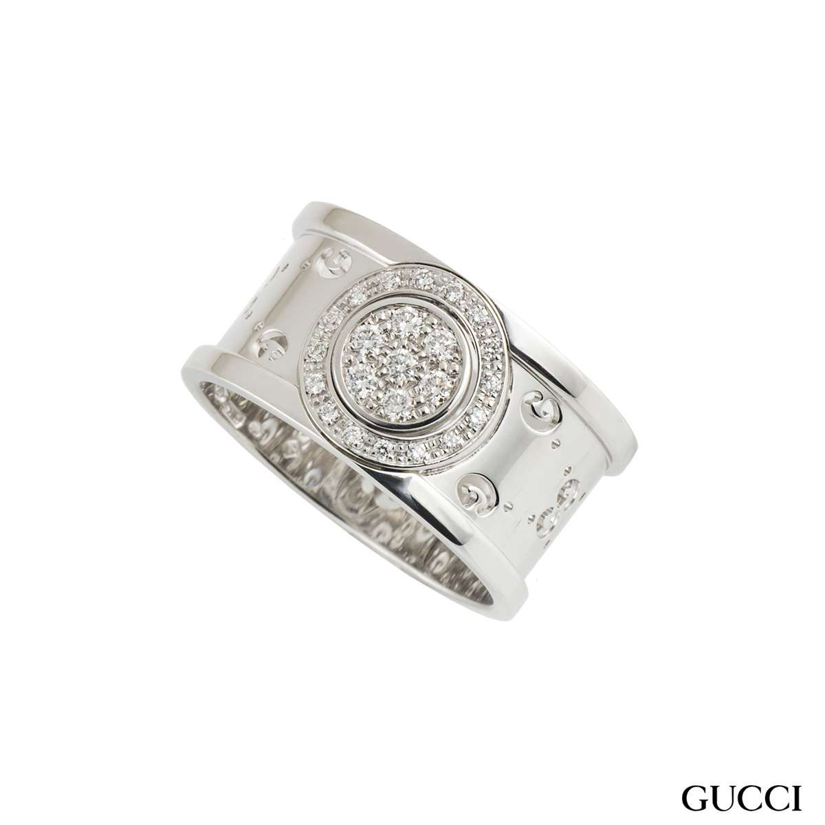 Gucci Twirl Diamond Set Ring